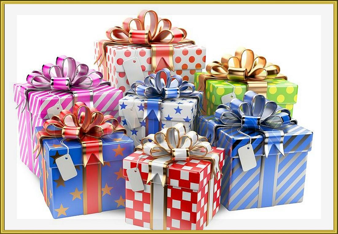Фото коробок с подарками 11