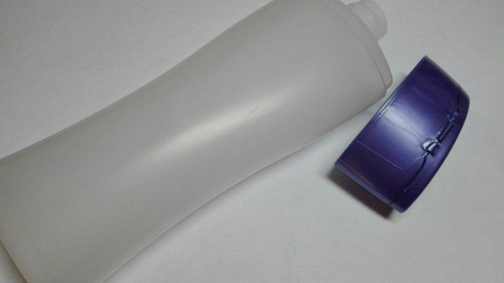 Флакон флип топ с сине-фиолетовой крышкой