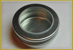Баночка с окошком алюминиевая