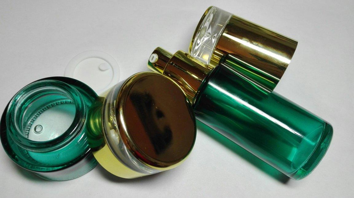 Баночка и диспенсер стекло